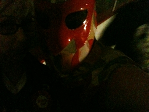 First Chikara mark photo with Soldier Ant (because my friend Lance thought he was rad). I hope no one is shocked at how it came out.